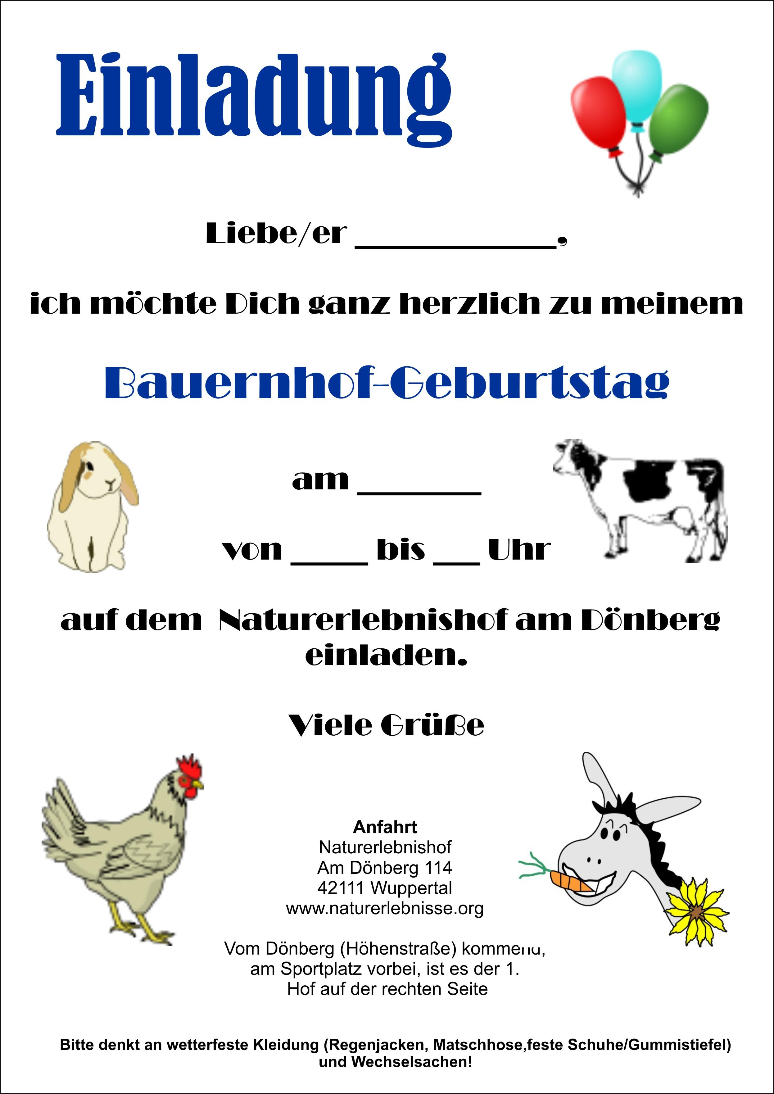 Einladung+Bauernhof 20 Best Einladung Kindergeburtstag Natur